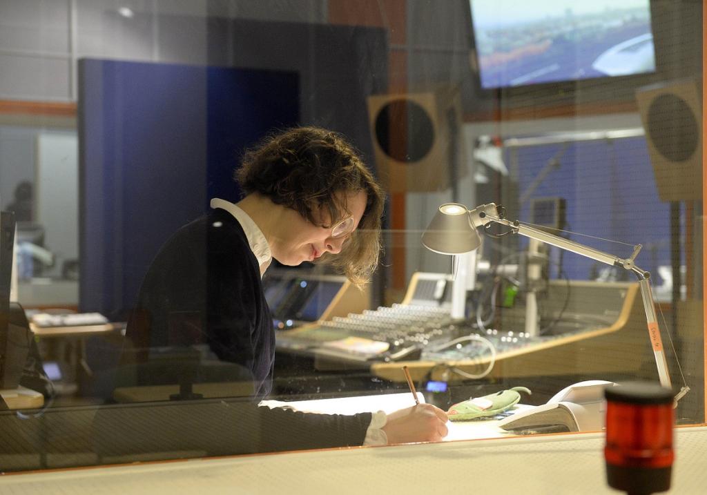 Стефани на радиостанции