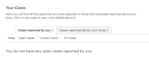 Как узнать, что на Этси был открыт Case