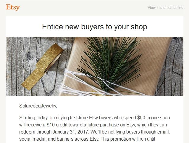 Новости от Etsy
