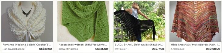 Как продавать шаль на Etsy