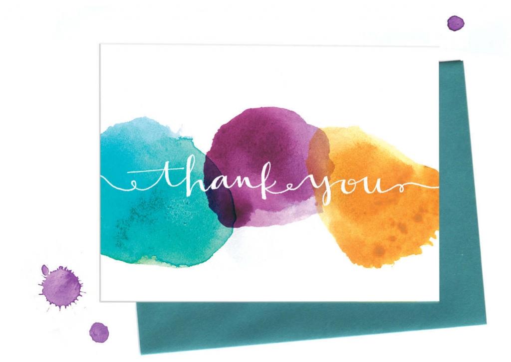 Идеи для благодарственной открытки