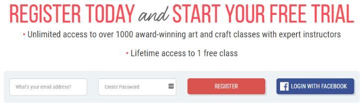 Creativebug - регистрация на сайте