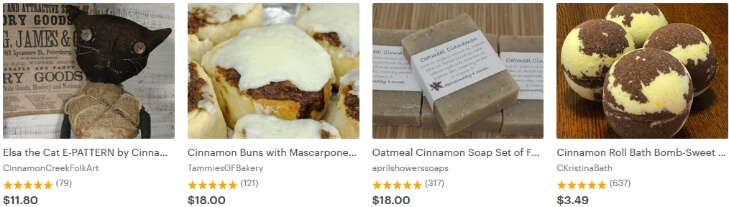 Cinnamon - корица - тренды 2017 на Etsy
