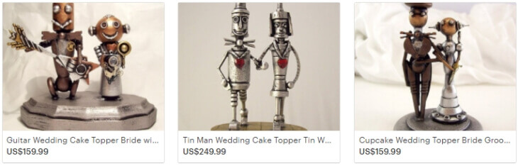 Фигурки для тортов в стиле стимпанк