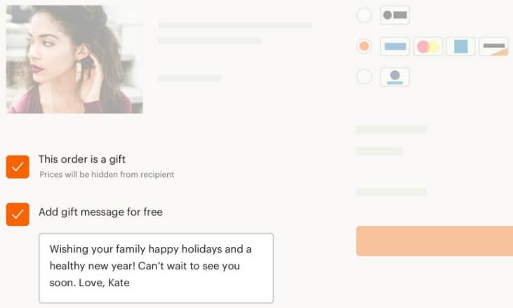 Как покупатель заказывает подарочную упаковку на Etsy
