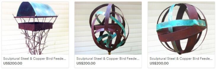 Птичьи кормушки из металла за 200 долларов