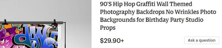 90'S Hip Hop Graffiti - заголовок без запятых