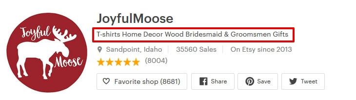 Откуда берётся название страницы Etsy магазина для Google