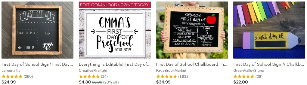 First day of school sign _ Etsy