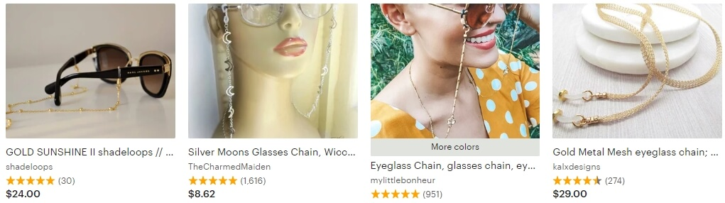 Glasses chain _ Etsy