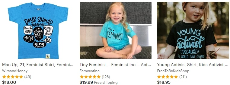 Kids activist shirt Etsy