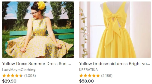 Yellow dress _ Etsy