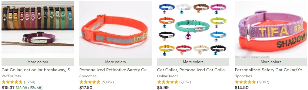 Personalized cat collar _ Etsy