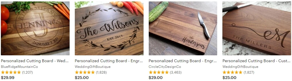Personalized cutting board _ Etsy