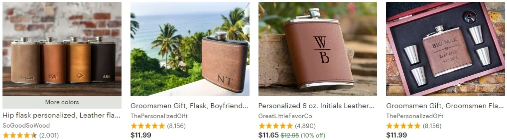 Personalized flask _ Etsy