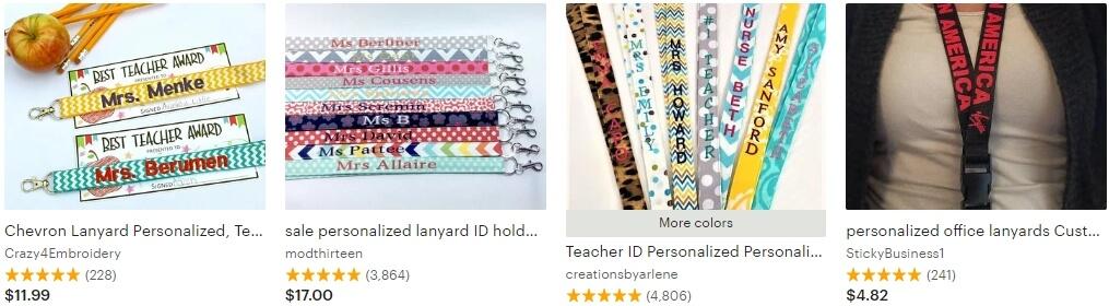 Personalized lanyard _ Etsy