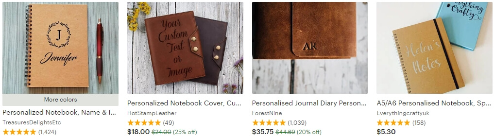 Personalized notebook _ Etsy