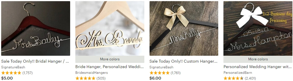Personalized wedding hanger _ Etsy