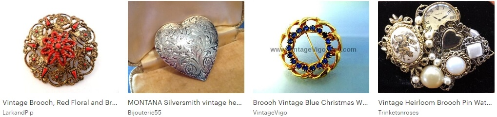 Heirloom brooches Etsy
