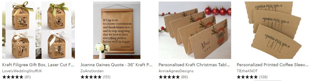 Kraft decor Etsy