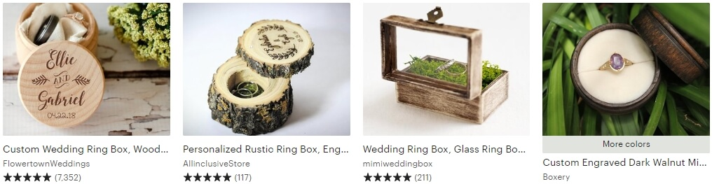 Ring box wedding Etsy