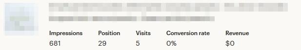 Search analytics - статистика листинга другой