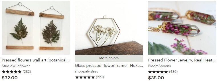 Pressed flowers _ Etsy