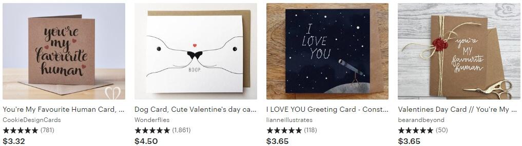 Valentines day card _ Etsy