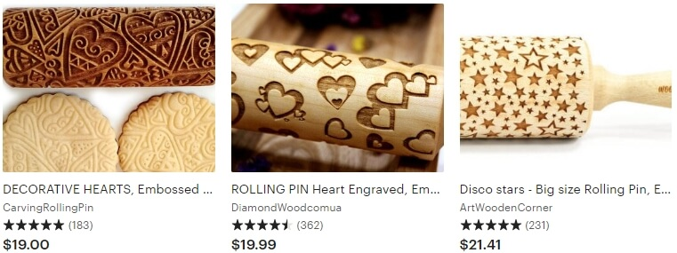 Valentines day rolling pin Etsy