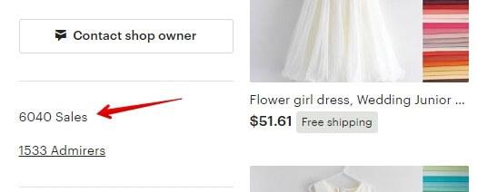 Если здесь нет ссылки - посмотреть продажи Etsy-магазина не получится