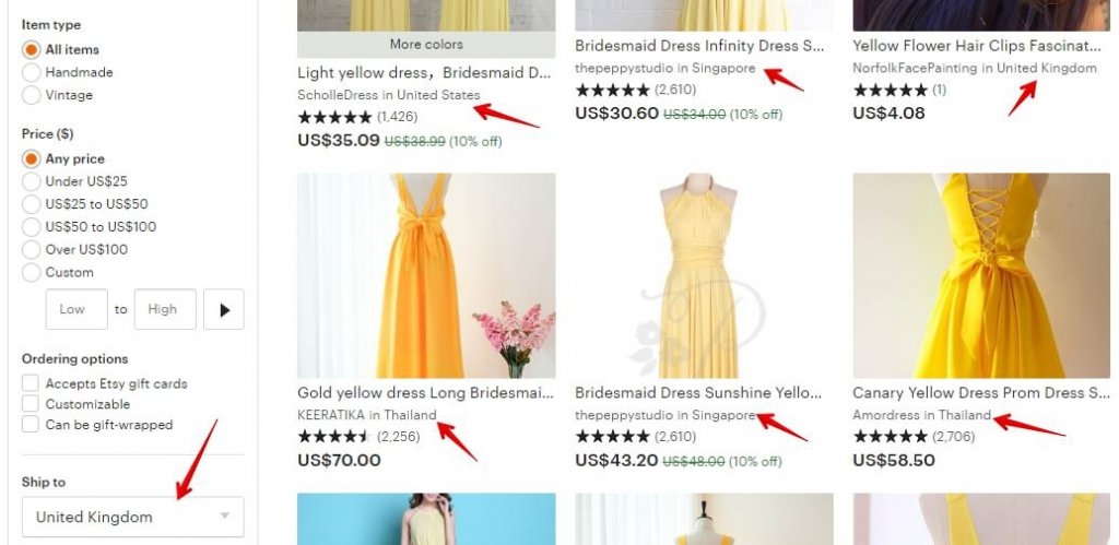 Yellow bridesmaid dress _ Etsy UK