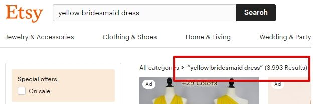 Yellow bridesmaid dress _ Etsy UK - count