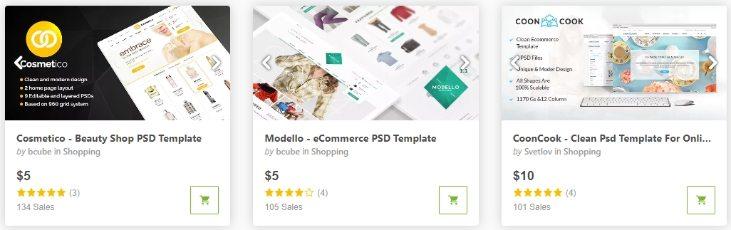 Шаблоны дизайнов интернет-магазинов