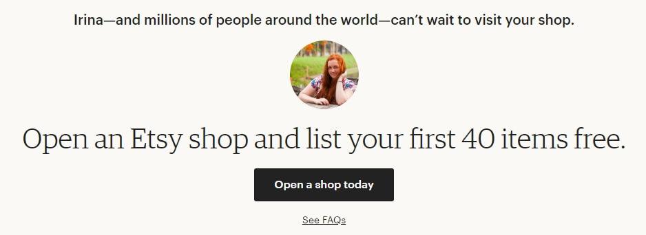 Открываем магазин на Etsy 40 листингов