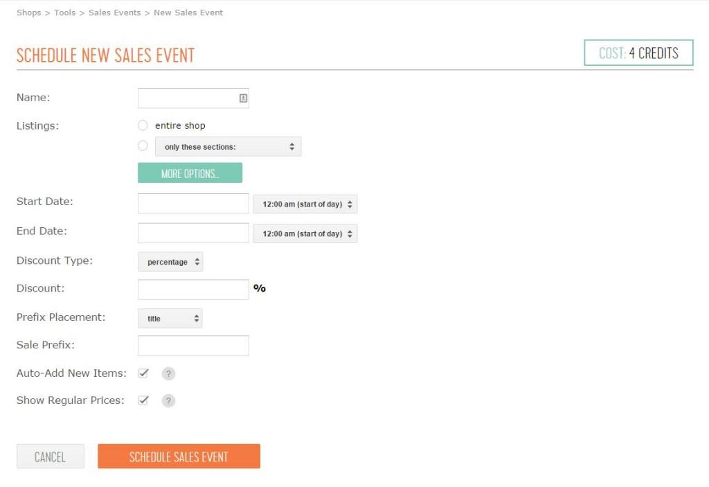 Как добавить распродажу