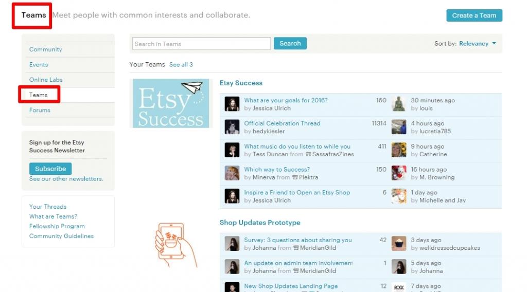 Что такое команды Этси (Teams Etsy)