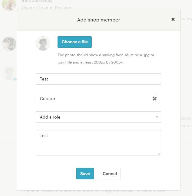 Как добавить участника магазина Etsy
