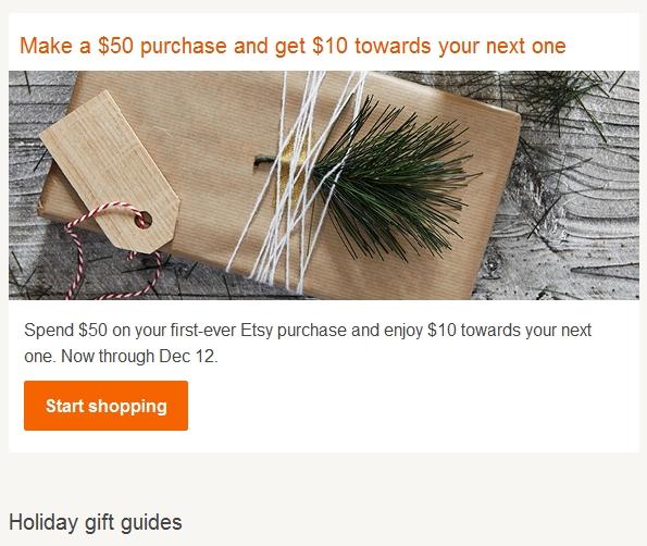 Покупатели выбирают подарки на Etsy