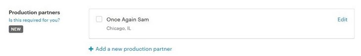 Etsy выбор партнёра из списка