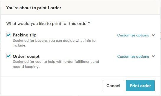 Etsy инвойс для покупателя и продавца