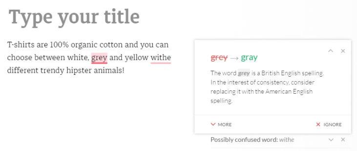 Grammarly исправить явные ошибки