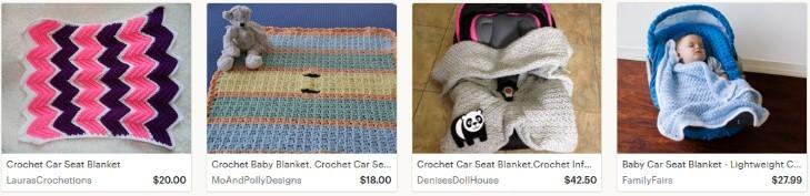Одеяльце для автомобильного сиденья