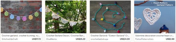 Продавать вязаные гирлянды на Etsy