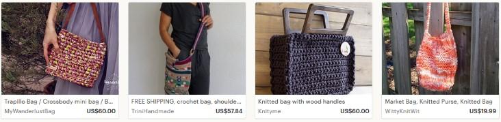 Как заработать на вязаных сумках