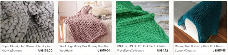 Шерстяные одеяла продавать на Etsy