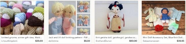 Продавать вязаные куклы