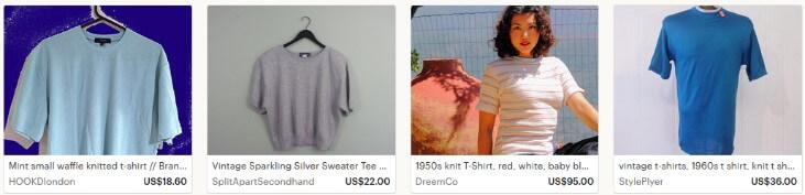 Продавать вязаные футболки на Etsy