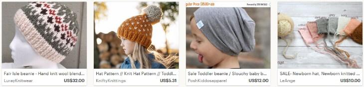 Как продавать вязанные шапки на Etsy