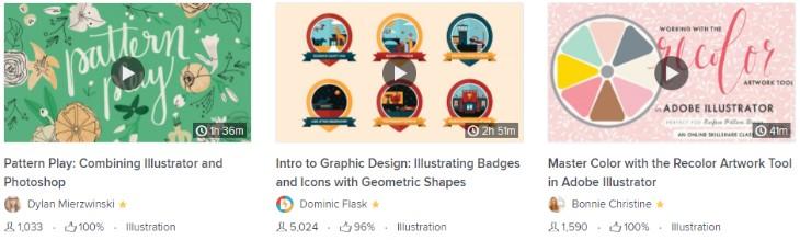Бесплатные уроки по Adobe Illustrator в Skillshare