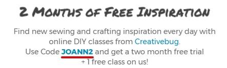 Creativebug - купон